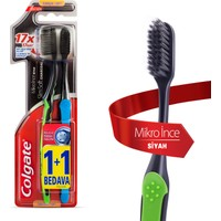 Colgate Diş Fırçası Mikro İnce Siyah 1+1