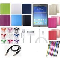 Fujimax Mustek Samsung Tab T110/T113/T116 Smart Case Tablet Kılıf+Film+Kalem+Aux Kablo+Kulaklık+ Şarj Kablosu