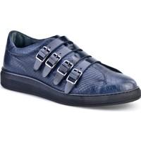 Cabani Günlük Erkek Ayakkabı Lacivert Croco Deri