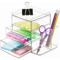 Kozmetik düzenleyici 3 çekmeceli ekstra bölmeli organizer