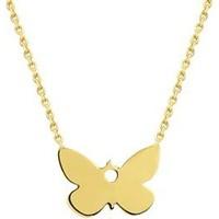 Altında Moda Sarı Altın Kelebek Kolye