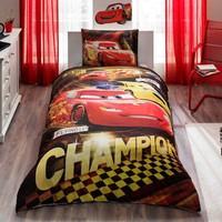 Taç Lisanslı Yatak Örtüsü Cars Champions