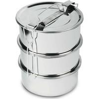 Çubuk Çelik Sefer Tası - Yemek Taşıma Kabı 3 Katlı En-Boy13 Yükseklik14 Cm