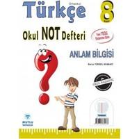 Mutlu Yayınları 8. Sınıf Türkçe Okul Not Defteri