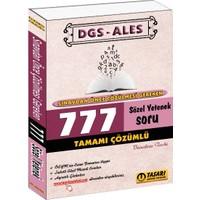 Tasarı Yayıncılık Dgs - Ales Sınavdan Önce Çözülmesi Gereken 777 Sözel Çözümlü Soru