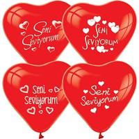 Zoziko 15 Adet Seni Seviyorum Kalp Balon