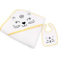 İdeorganic Mutlu Kedi Kundak Havlu / Mama Önlüğü