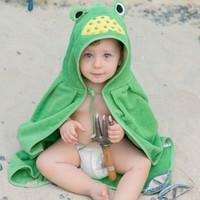 İdeorganic Küçük Kurbağa Bebek Pelerin Havlu