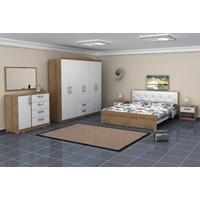 Kenyap Allure 821180 Yatak Odası-Taçlı 6 Kapılı Gardıroplu-Sümela Beyaz