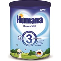 Humana 3 Metal Kutulu Devam Sütü 800 gr