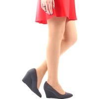 Gön Deri Kadın Ayakkabı 20267 Gri Streç