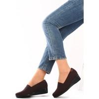 Gön Kahve Streçe Kahve Deri Kadın Ayakkabı 22385