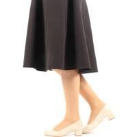 Gön 22336 Bej Krako Deri Kadın Ayakkabı