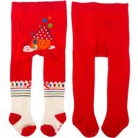 Tuc Tuc 2'li Külotlu Çorap, La Casita Del Caracol Kırmızı