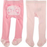 Tuc Tuc 2'li Külotlu Çorap, Love Panda Açık Pembe Çizgili