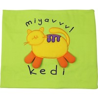 O Piti Piti Kedili Battaniye Fıstık Yeşil