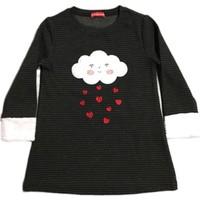 Karamela Sevgi Bulutu Elbise, Kalp Siyah Desenli
