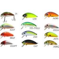 Strike Pro Mustang Minnow Mg-002 Suni Yem 022Pt 45 Mm