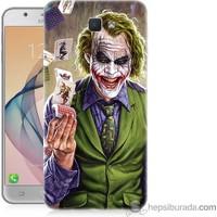 Teknomeg Samsung Galaxy J7 Prime Kılıf Kapak Kartlı Joker Baskılı Silikon