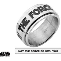"Body Vibe Star Wars ""May The Force Be With You"" Spinner Yüzük"
