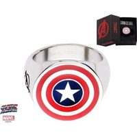 Body Vibe Marvel Captain America Shield Logo Yüzük