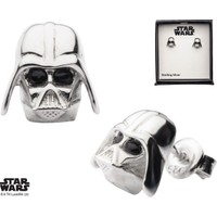 Body Vibe Star Wars Darth Vader 3D Stud Gümüş Küpe
