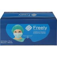 Freely Lastikli Cerrahi Yüz Maskesi 50'li Pkt