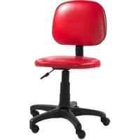Depolife Kolsuz Ofis Koltuğu Ofis Sandalyesi Kırmızı