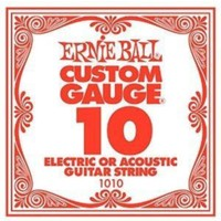 Ernie Ball P01010 .010 Gitar Tek Teli Plaın Steel Electric/ Acoust