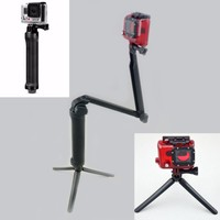 Knmaster Sony Aksiyon Kamera Uyumlu Çok Fonksiyonlu Monopod / Stand / Mini Tripod