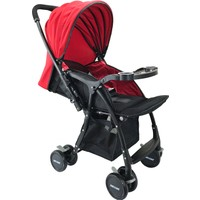 Wellgro Çiftli Yönlü Bebek Arabası Autoban Kırmızı