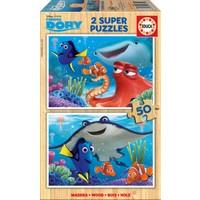 Educa Puzzle Dory 2 X 50 Parça Ahşap Puzzle