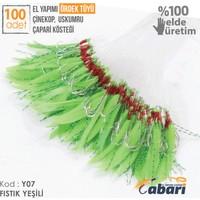 Abari B07 Ördek Tüyü Çinekop Çapari Kösteği Yeşil 100Ad 7 No Beyaz İğne