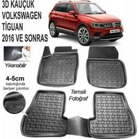 Leader 3D Paspas Volkswagen Tiguan 2016 Ve Sonrası Uyumlu Siyah