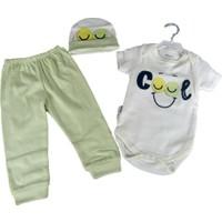 Miniworld Cool Desenli Uzun Kollu Badili 3'lü Bebek Takımı