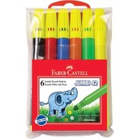 Faber Castell Faber-Castell Jumbi 42 Neon Floresan Keçeli 6 Lı