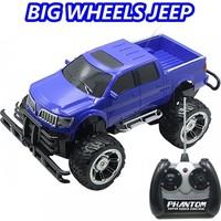 Sunman 1:14 Kumandalı Büyük Tekerli Mavi Jeep