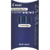 Pilot V7 Hi-Tecpoint Karuşlu Yedek 3'lü Mavi