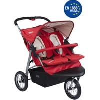 Kraft Wow Jogger İkiz Bebek Arabası - Kırmızı