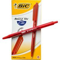 Bic Round Stic Clic Tükenmez Kalem Kırmızı