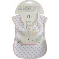 Bebitof 025 Bebek Mama Önlüğü - Pembe