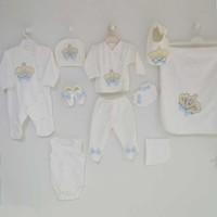 Eda Baby 9155 Prens 10'lu Hastane Çıkış Seti - Mavi