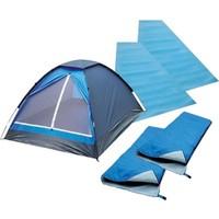 LOAP Domepack Combo İki Kişilik Çadır, Uyku Tulumu ve Mat Seti
