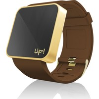 Upwatch TOUCH Shiny Gold&Brown Unisex Kol Saati