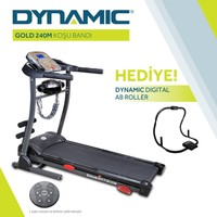 Dynamic Gold 240M Masajlı Motorlu V3 Koşu Bandı ve Dynamic Digital Ab Roller