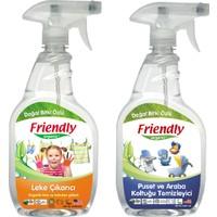 Friendly Organic Detaylı Leke Çıkarıcı ve Koku Giderici 650 ml ve Puset ve Oto Koltuğu Temizleyici 650 ml