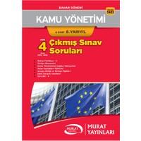 Murat Yayınları Açıköğretim 5483 Kamu Yönetimi 4. Sınıf 8. Yarıyıl Son 4 Yılın Çıkmış Sınav Soruları