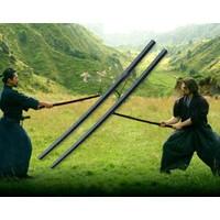 Bokken Aikido Çalışma Sopası - Ahşap Samuray Aikido Eğitim Kılıcı - Siyah