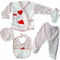 Bombinoo 5 Parça Bebek Hastane Çıkışı Yeni Doğan Zıbın Seti Bk3-8806-K