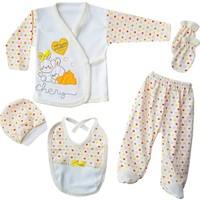 Bombinoo 5 Parça Bebek Hastane Çıkışı Yeni Doğan Zıbın Seti Bs6-8809-S